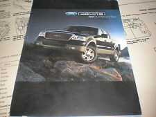 2006 FORD F150 F-150 FACTORY QUICK REFERENCE OWNERS MANUAL SUPPLEMENT BOOKLET