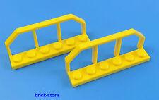 LEGO® Eisenbahn / train 1x6 gelb / Waggon Gitter Zaun / 2 Stück