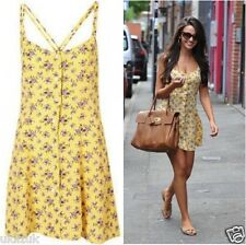 BNWT  Topshop Celebrity Yellow Purple Floral Cami Slip Dress - Size 6
