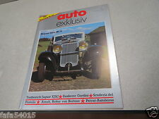 REVUE MAGAZINE AUTO EXKLUSIV VOITURE EXCLUSIVE 1983 hispano suiza HS 26 *