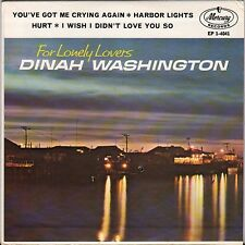 """DINAH WASHINGTON """"FOR LONELY LOVERS"""" JAZZ VOCAL 60'S EP MERCURY 4041"""