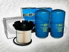 7.3L TURBO DIESEL 2 OIL FILTERS & F55055C FUEL FILTER W/ CAP COMBO KIT FOR FORD
