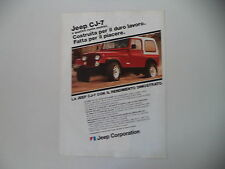 advertising Pubblicità 1982 JEEP CJ-7 CJ7 CJ 7
