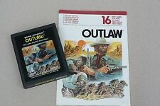 """Atari 2600 Vintage video game """"Outlaw"""" 1978 with intruction manual"""