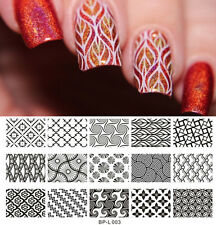 BORN PRETTY Nail Art Stamp Plate Large Designs Image Template L003 12.5 x 6.5cm