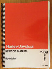 New Harley Davidson Sportster XL XLH XLCH 1959-69 Repair Service Manual FREE S&H