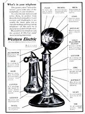 POST CARD OF VINTAGE ADVERTISEMENT WHAT'S IN YOUR TELEPHONE BY WESTERN ELECTRIC