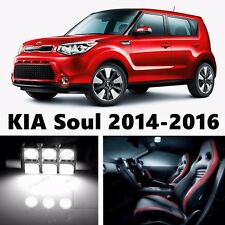 11pcs LED Xenon White Light Interior Package Kit for KIA Soul 2014-2016
