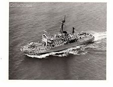 WWII US Navy Ship Photograph USS Beaufort ATS-2 Official Photo 8x10