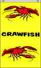 Flag 3x5 Vertical CRAWFISH Business 3' x 5' Banner Sign