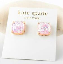 Kate Spade Small Square Glitter Stud Earrings Pale Pink