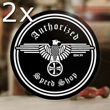 2x Stück Blitzkrieg Racing Authorized Speed Shop Sticker Aufkleber Autocollante