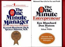 2x Ken Blanchard: One Minute Manager + The One Minute Entrepreneur -Free Ship