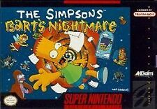 ***THE SIMPSONS BART'S NIGHTMARE SNES SUPER NINTENDO GAME COSMETIC WEAR~~~