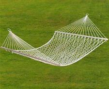 "Double Hammock 59"" 2 Person Patio Bed Nylon Rope Outdoor Netting Hanging Swing"