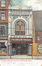 Worcester MA Franklin Square Theatre Poster's in 1907 Postcard