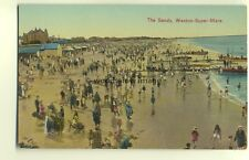 tp4593 - Somerset - The Sands and Motor Boat Trips, Weston-Super-Mare - Postcard