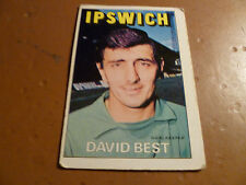 A&BC Chewing Gum Football Card 1972/73 Red Orange Back DAVID BEST Ipswich Town