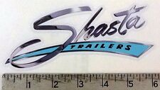 Vintage Shasta blue trailer RV sticker decal