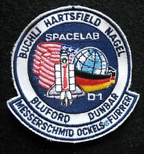SPACELAB 01 BUCHI HARTSFIELD NAGAR BULFORD DUNBAR EMBROIDERED SEW ON PATCH NASA