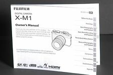 Fuji Fujifilm Genuine X-M1 Camera Instruction Book / Manual / User Guide