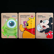 3 PCS Korean Facial Mask Sheet Pack Moisturizing THEFACESHOP + DISNEY Character
