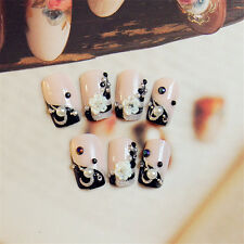 24Pcs Full Nail French Tips Natural Finger Toe False Fake Art Artificial Nails