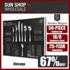 100% Genuine! STANLEY ROGERS Chicago 56 Piece Cutlery Set! RRP $299.00!