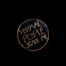 PUNKY PINS NORMAL PEOPLE SCARE ME BLACK ENAMEL PIN. AMERICAN HORROR STORY. AHS