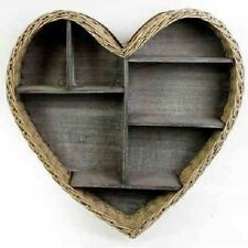 Heart Shape Wood Hanging Wall Storage Cupboard Cabinet Display Wall shelve New