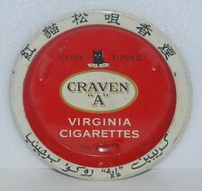 VINTAGE CRAVEN A TIP TRAY VIRGINIA CIGARETTE