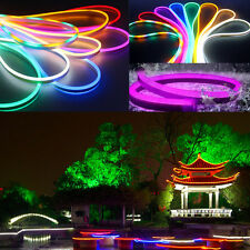 1-50M 2835 LED Flexible Neon Rope Strip Light Outdoor Party 12V 220V Waterproof