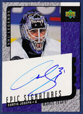 2000-01 Curtis Joseph Upper Deck Legends Epic Signatures Auto Maple Leafs