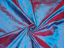 """Brocade fabric Iridescent Blue & Red Color 44"""""""