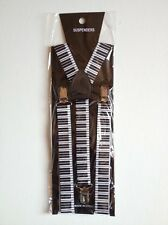 STYLISH FASHIONABLE MENS/LADIES PIANO KEYS BRACES SUSPENDERS  2.5cm