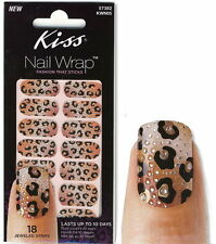 Kiss NAIL WRAP Dress Nagel-Folien Strips Animal/Leo Strass Sticker KWN05 Princes