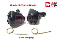Fit Honda 2001-2005 Civic CRV CR-V Wiper Washer Windshield Nozzle Spray Jet Pair