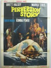 PERVERSION STORY MURDER BY MUSIC Italian 4F movie poster 55x79 ROMINA POWER