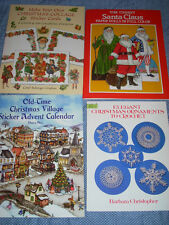 Christmas Paper Doll & Craft Book Lot of 4 Vintage-look Reproduction Cards Santa