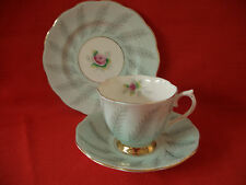 VINTAGE ROYAL ALBERT  ENGLAND BONE CHINA ~ ROSAMUND ~TRIO TEA CUP SAUCER & PLATE