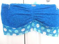 AERIE~Blue Lace BANDEAU / BRALETTE / TUBE TOP~Women's Medium~NWOT