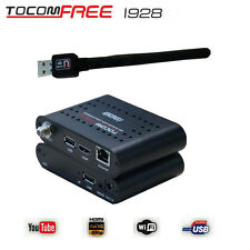 TOCOMFREE i928 Satellite Receiver HD TV Box IKS Free South America +Wifi Antenna