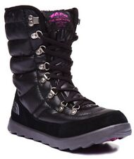 "The North Face Women's Thermoball Lace 8"" Shiny Black Snow Winter Boots 9 NWOB"
