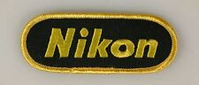 NIKON, VINTAGE EMBROIDERED CLOTH PATCH, SEW ON