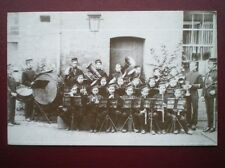 POSTCARD RP BRASS BAND STANDON FARM STAFF C1900