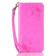 Card Holder Leather Flip Wallet Case Cover Stand Floral For Samsung Google