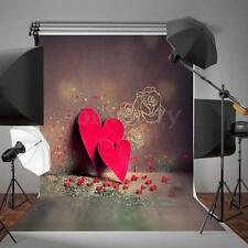 3x5ft Vinyl Red Heart Wall Photography Backdrop Photo Props Studio Background