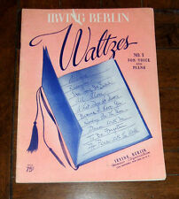 BOOK: Irving Berlin Waltzes No. 1 For Voice and Piano / Songbook Always Remember