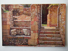 The Chapel Bramber Castle Sussex Series Artist G Wolseley Old Postcard J Salmon