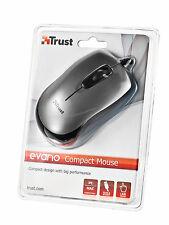 TRUST evano compact USB Ergonomico Optical Mini Mouse per sinistro e mano destra, utilizzare